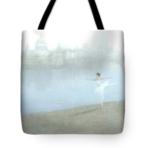 Ballerina On The Thames Tote Bag by Steve Mitchell