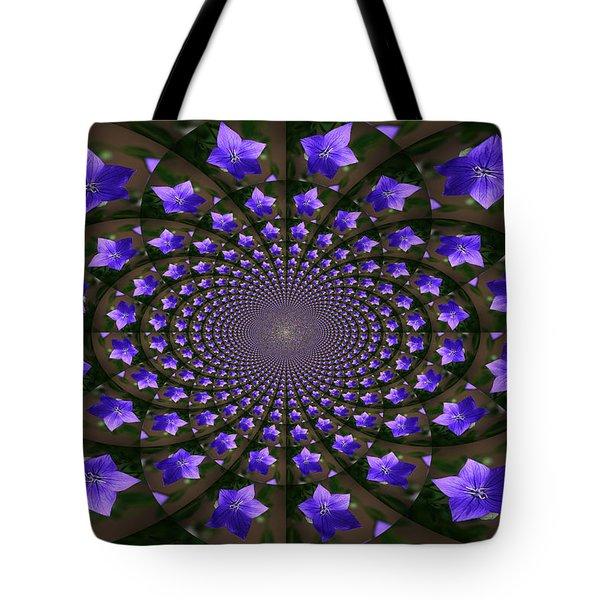Balloon Flower Kaleidoscope Tote Bag by Teresa Mucha