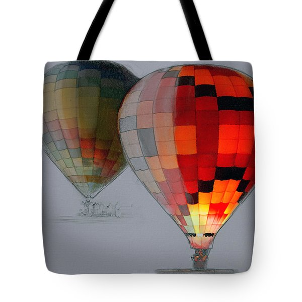 Balloon Glow Tote Bag by Sharon Foster