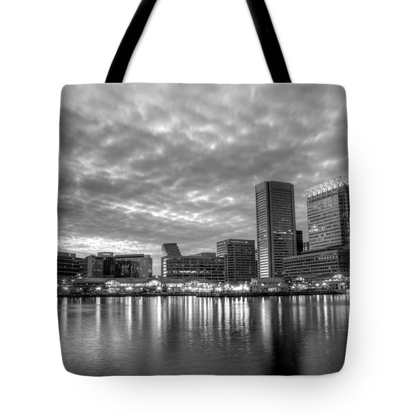 Baltimore in Black and White Tote Bag by JC Findley