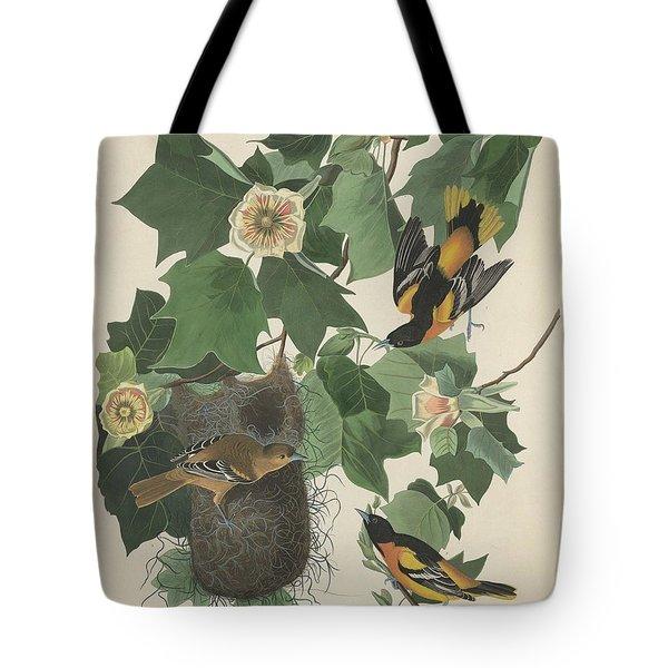 Baltimore Oriole Tote Bag by John James Audubon