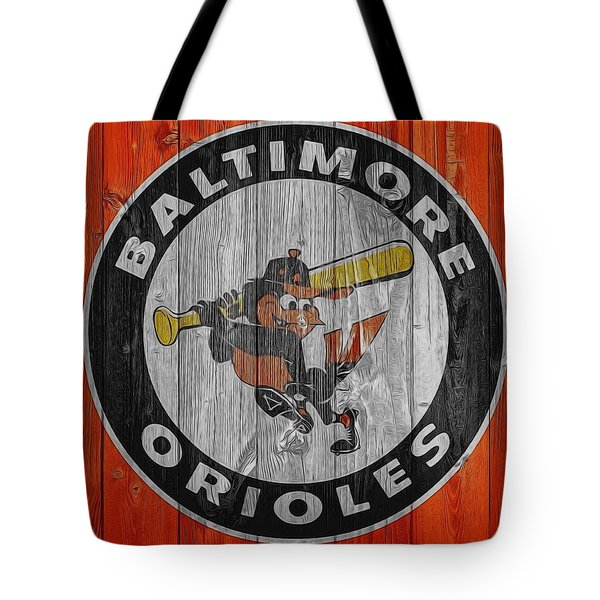 Baltimore Orioles Graphic Barn Door Tote Bag by Dan Sproul