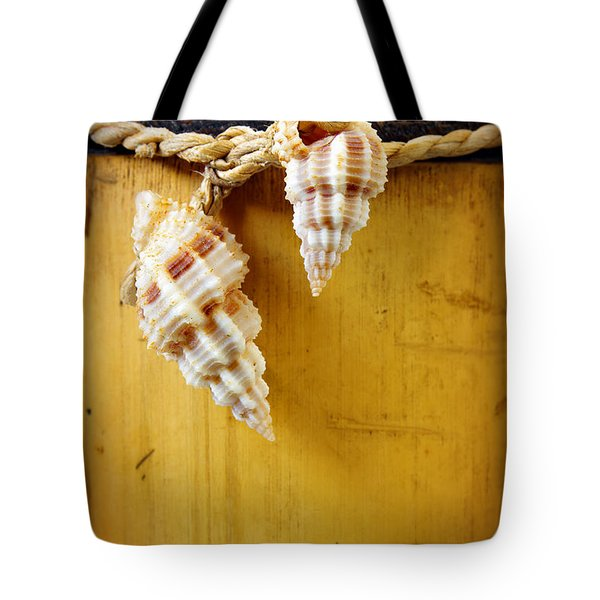 Bamboo And Conches Tote Bag by Carlos Caetano
