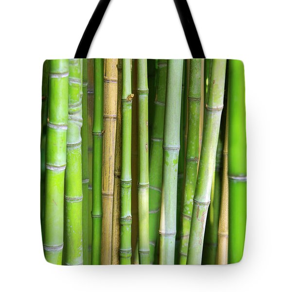 Bamboo Background Tote Bag by Carlos Caetano