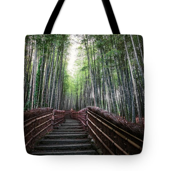 BAMBOO FOREST of JAPAN Tote Bag by Daniel Hagerman