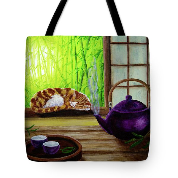 Bamboo Morning Tea Tote Bag by Laura Iverson