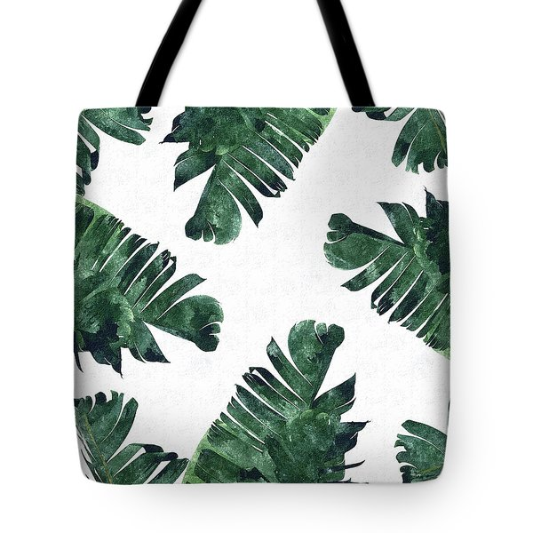 Banan Leaf Watercolor Tote Bag by Uma Gokhale