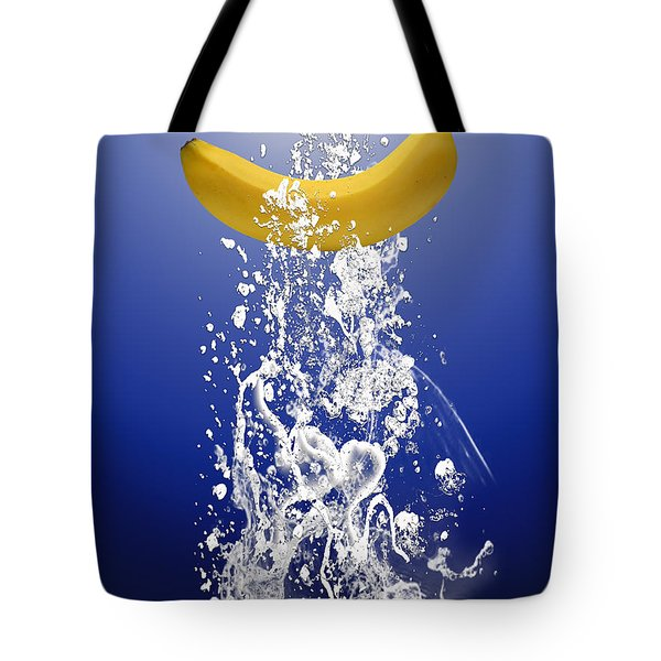 Banana Splash Tote Bag by Marvin Blaine