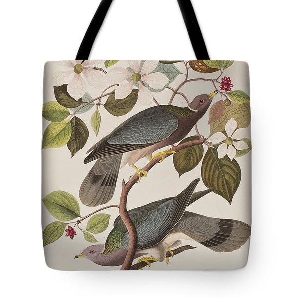 Band-tailed Pigeon  Tote Bag by John James Audubon