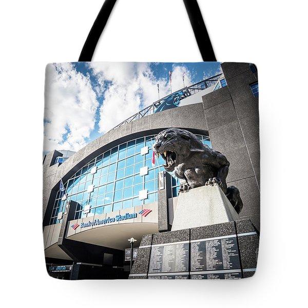 Bank Of America Stadium Carolina Panthers Photo Tote Bag by Paul Velgos