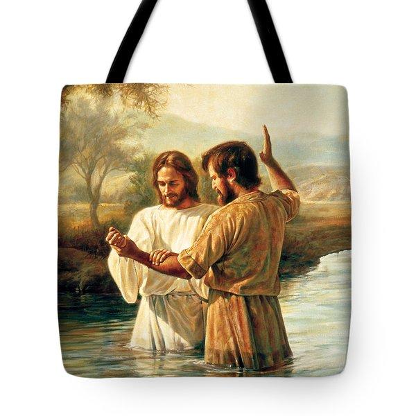 Baptism Of Christ Tote Bag by Greg Olsen
