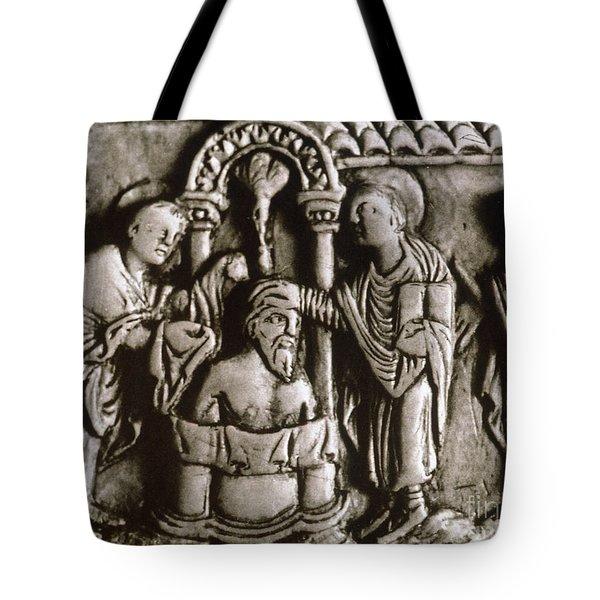 Baptism Of Clovis I, 496 A.d Tote Bag by Granger