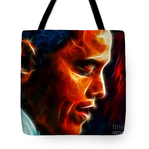 Barack Obama Tote Bag by Pamela Johnson