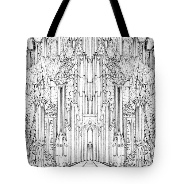 Barad-dur Gate Study Tote Bag by Curtiss Shaffer