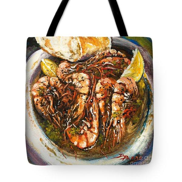 Barbequed Shrimp Tote Bag by Dianne Parks