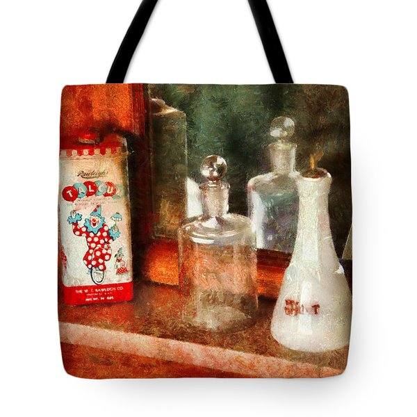 Barber - On a barbers counter  Tote Bag by Mike Savad