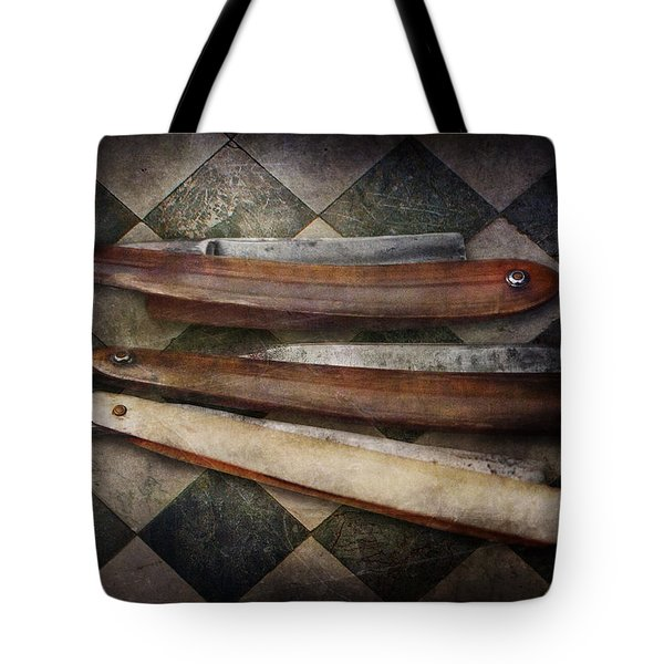 Barber - The Razor  Tote Bag by Mike Savad