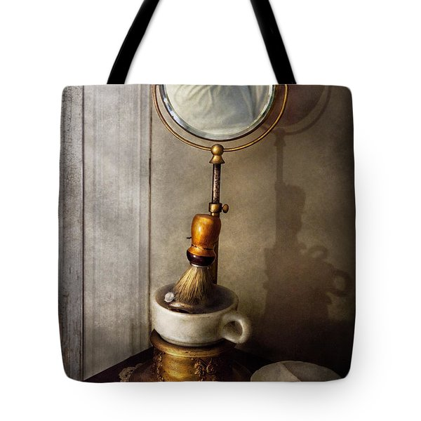 Barber - The Morning Shave  Tote Bag by Mike Savad