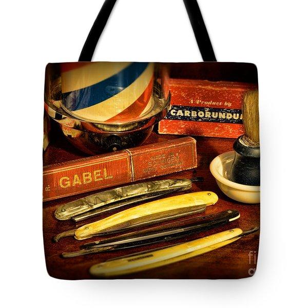 Barber - Vintage Barber Tote Bag by Paul Ward