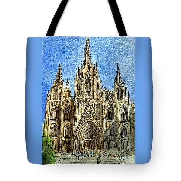Barcelona Spain Tote Bag by Irina Sztukowski