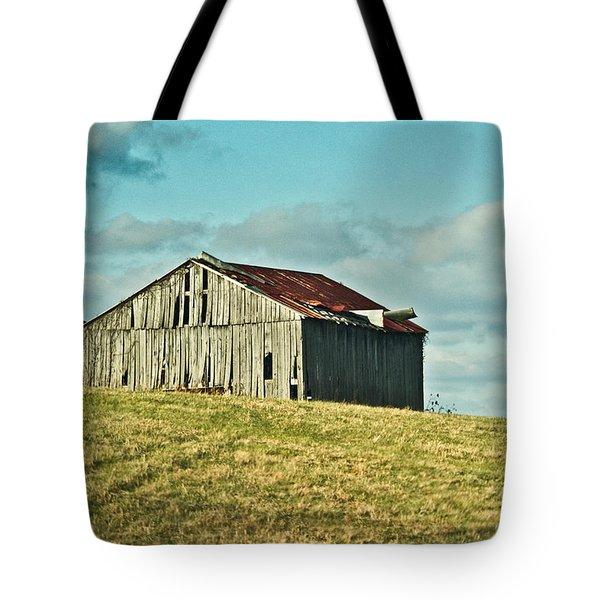Barn In Ill Repir Tote Bag by Douglas Barnett