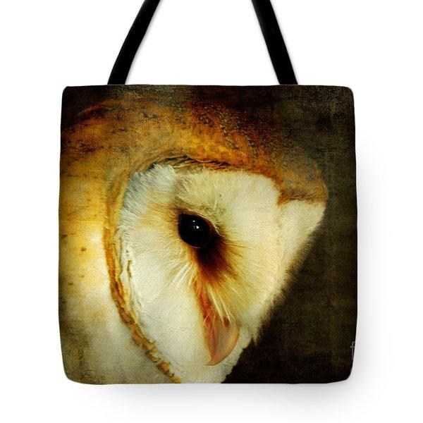 Barn Owl Tote Bag by Lois Bryan