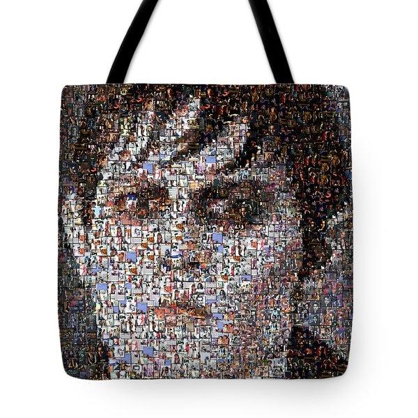 Barnabas Collins Johnny Depp Mosaic Tote Bag by Paul Van Scott