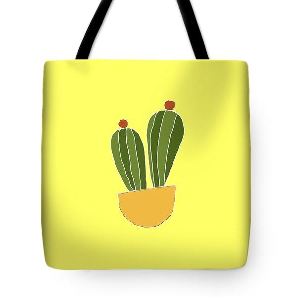 Barrel Cactus Tote Bag by Priscilla Wolfe