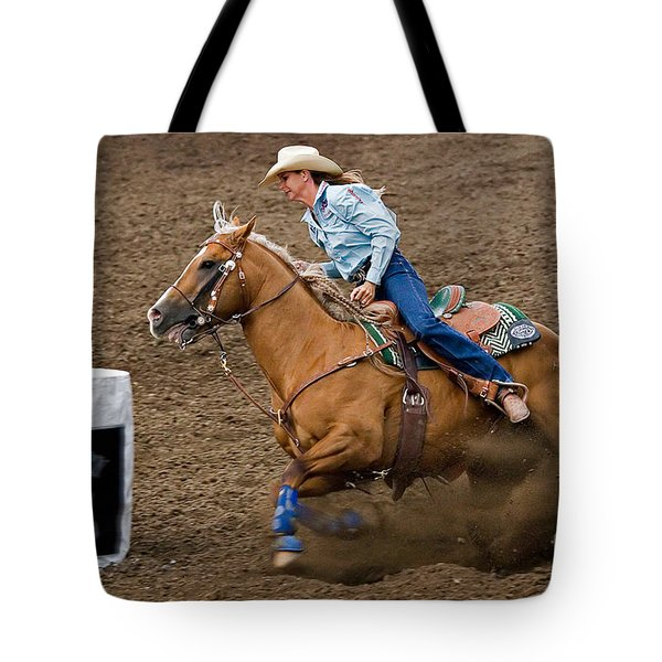 Barrel Racing Tote Bag by Louise Heusinkveld