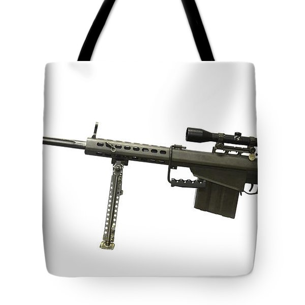 Barrett L82a1 Anti-materiel Rifle Tote Bag by Andrew Chittock