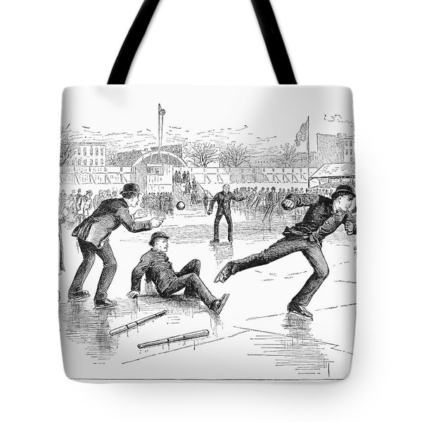 Baseball On Ice, 1884 Tote Bag by Granger