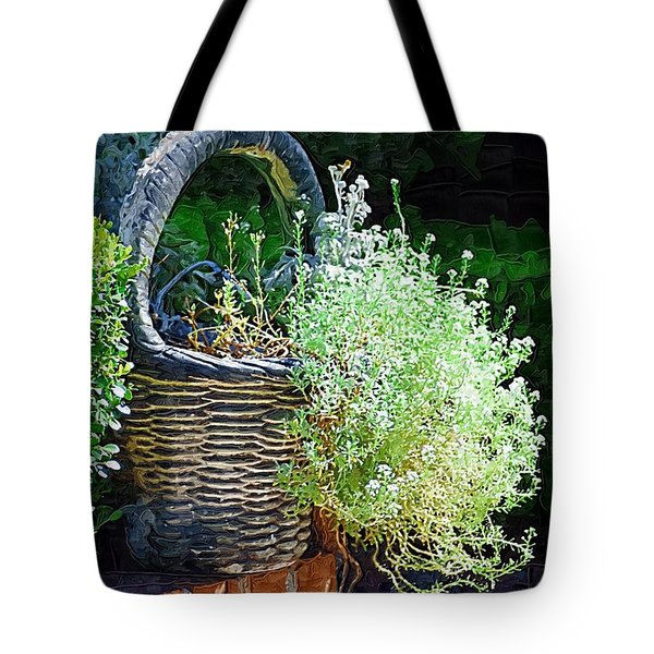 Basket Full Of Flowers Tote Bag by Donna Bentley