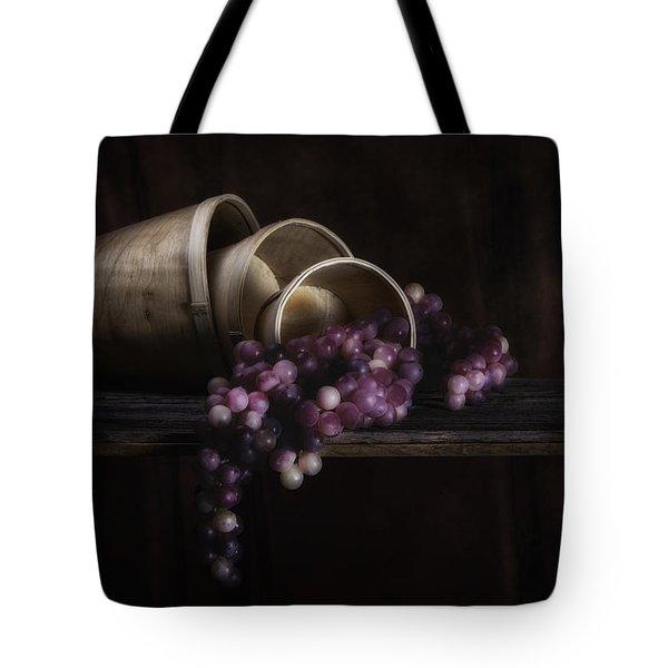 Basket Of Grapes Still Life Tote Bag by Tom Mc Nemar