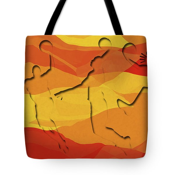 Basketball Players Abstract Tote Bag by David G Paul