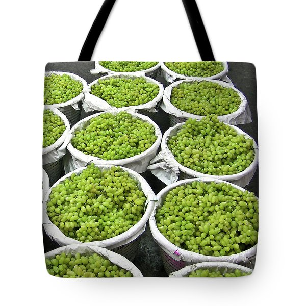 Baskets Of White Grapes Tote Bag by Douglas Barnett