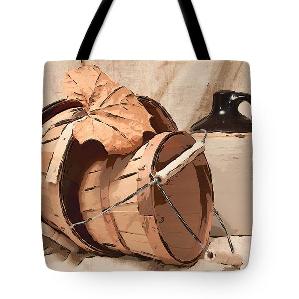 Baskets With Crock I Tote Bag by Tom Mc Nemar
