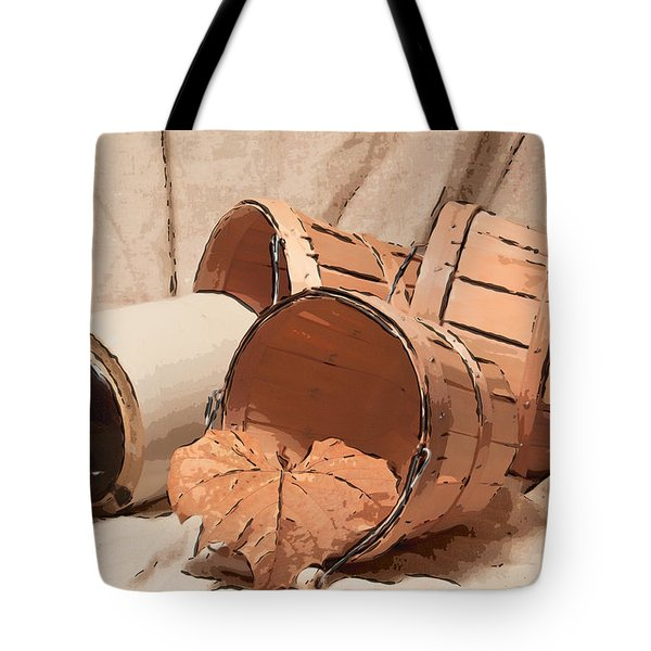 Baskets With Crock II Tote Bag by Tom Mc Nemar