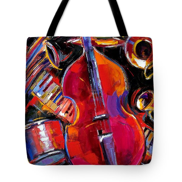 Bass And Friends Tote Bag by Debra Hurd