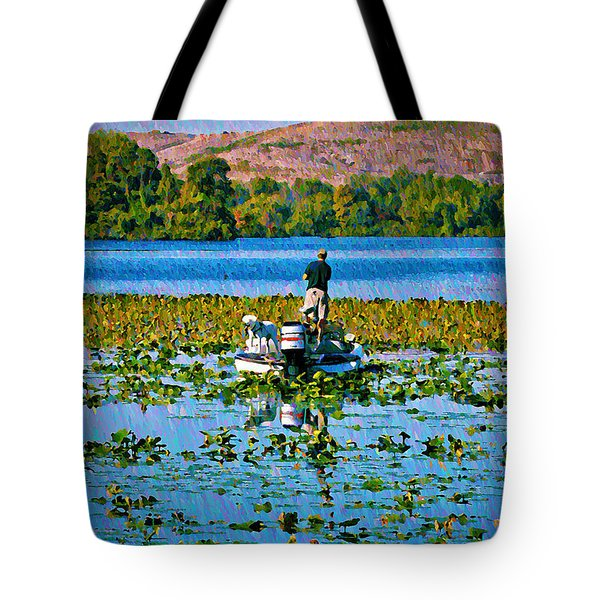 Bass Fishing Tote Bag by Bill Cannon