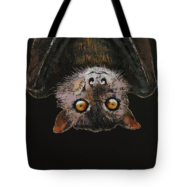 Bat Tote Bag by Michael Creese