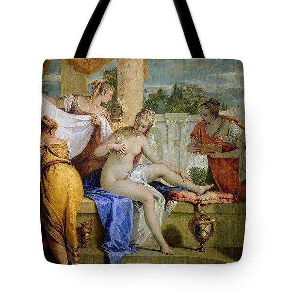 Bathsheba Bathing Tote Bag by Sebastiano Ricci