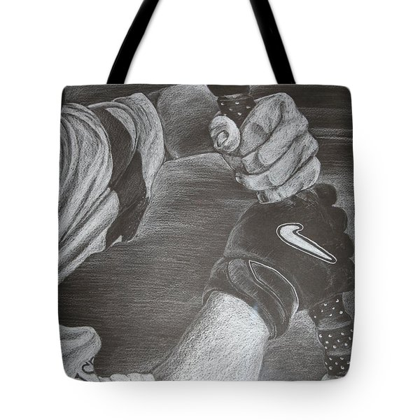 Batter Up Tote Bag by Melissa Wiater Chaney