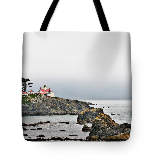 Battery Point Lighthouse California Tote Bag by Christine Till