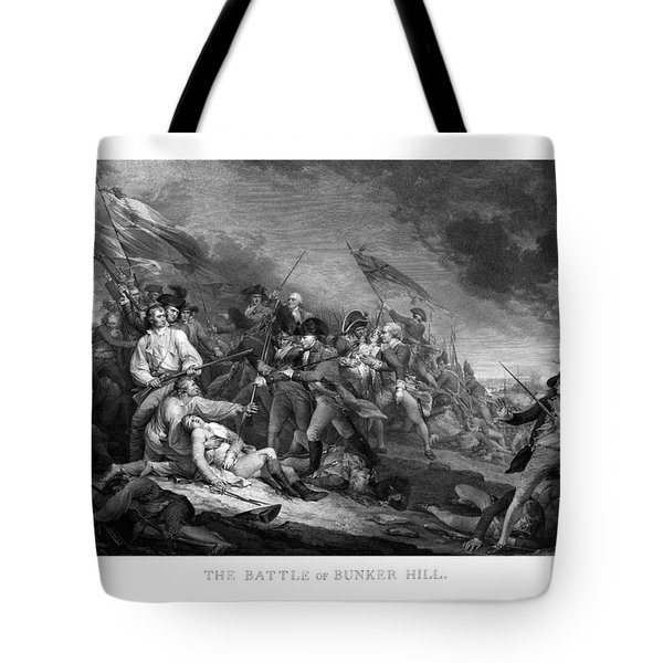 Battle of Bunker Hill Tote Bag by War Is Hell Store