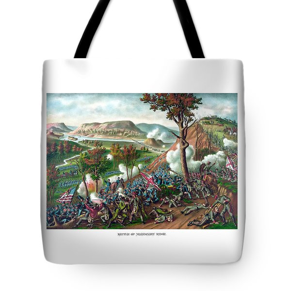 Battle Of Missionary Ridge Tote Bag by War Is Hell Store