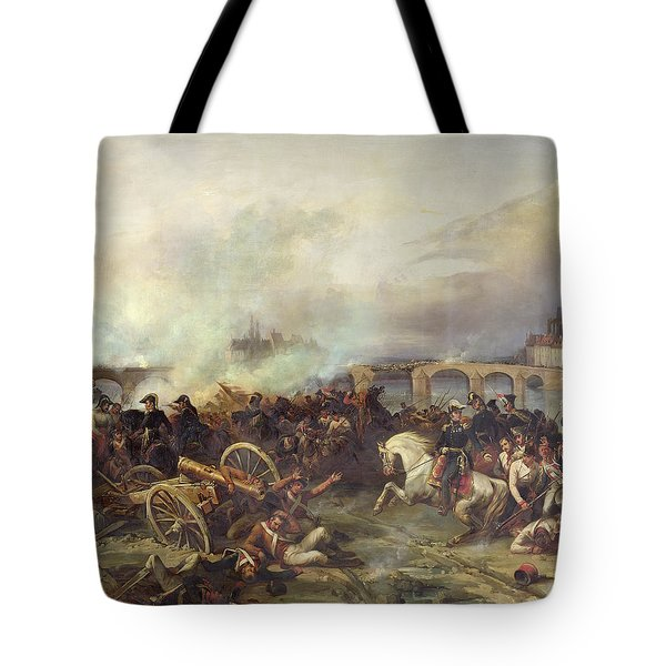 Battle Of Montereau Tote Bag by Jean Charles Langlois