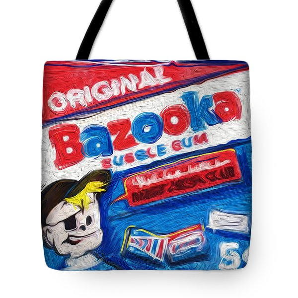 Bazooka Joe Tote Bag by Russell Pierce