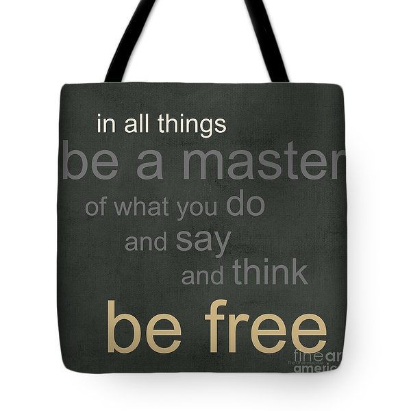 Be Free Tote Bag by Linda Woods