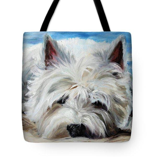 Beach Bum Tote Bag by Mary Sparrow
