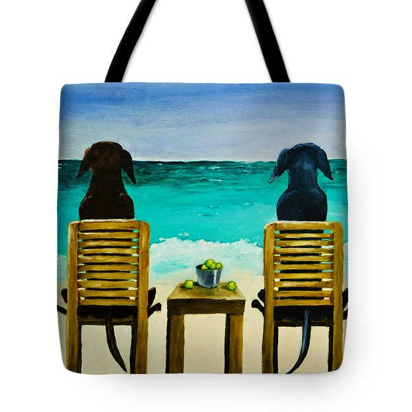 Beach Bums Tote Bag by Roger Wedegis